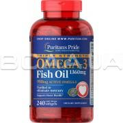 Triple Strength Omega-3 Fish Oil 1360 mg (950 mg Active Omega-3) 240 Rapid Release Softgels