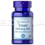 Folate 666 mcg DFE (Folic Acid 400 mcg) 250 Tablets