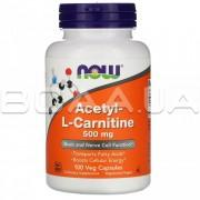 Acetyl-L-Carnitine 500 mg 100 Veg Capsules