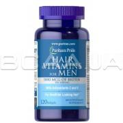 Mens Hair Vitamins 5000 mcg of Biotin 120 Softgels