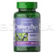 Puritans Pride, Bilberry Fruit Extract 1000 mg, 180 Rapid Release Softgels